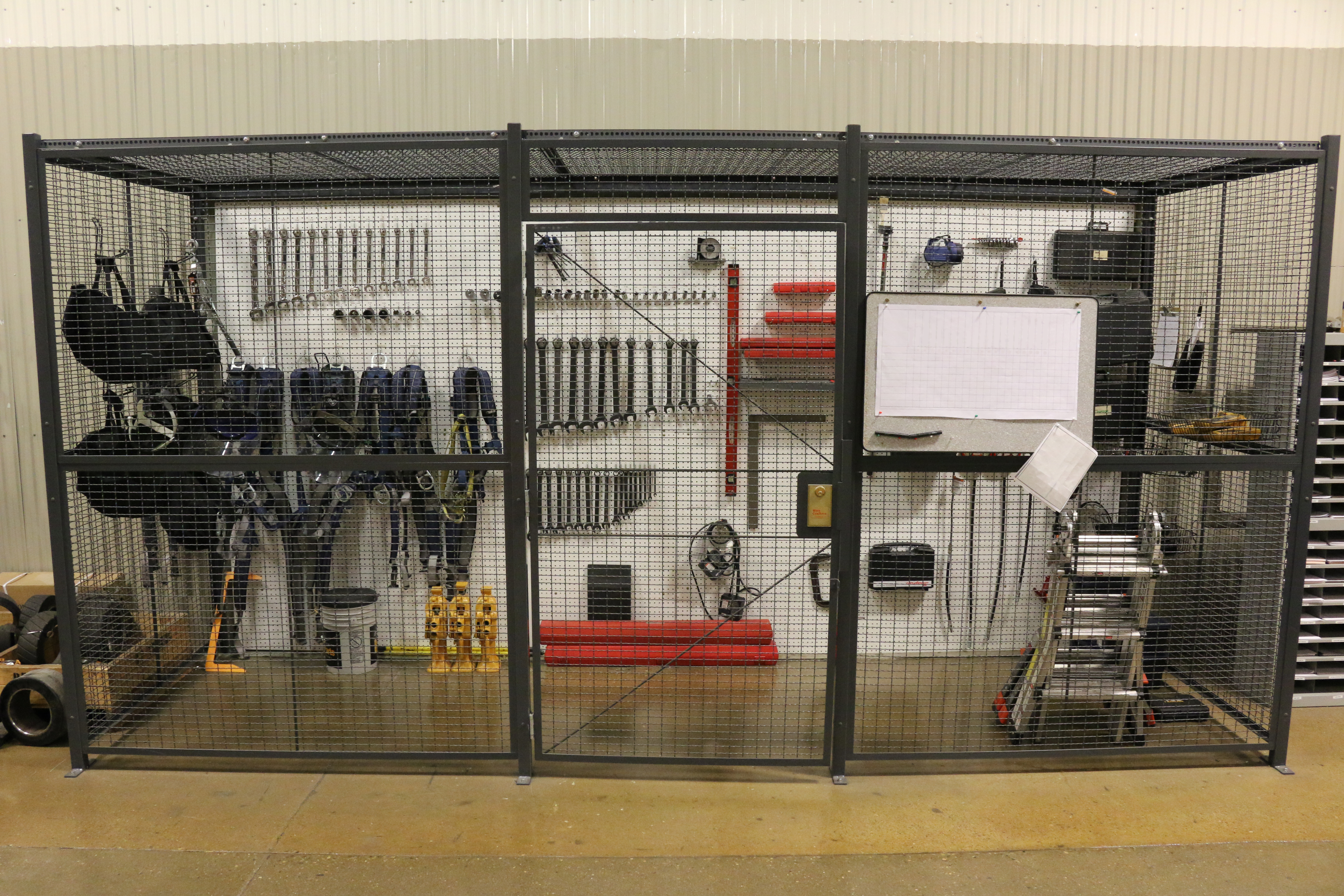 Wire Barriers, Lockers, and Cages