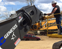 Genesis severe duty grapple rental from Alta Equipment.